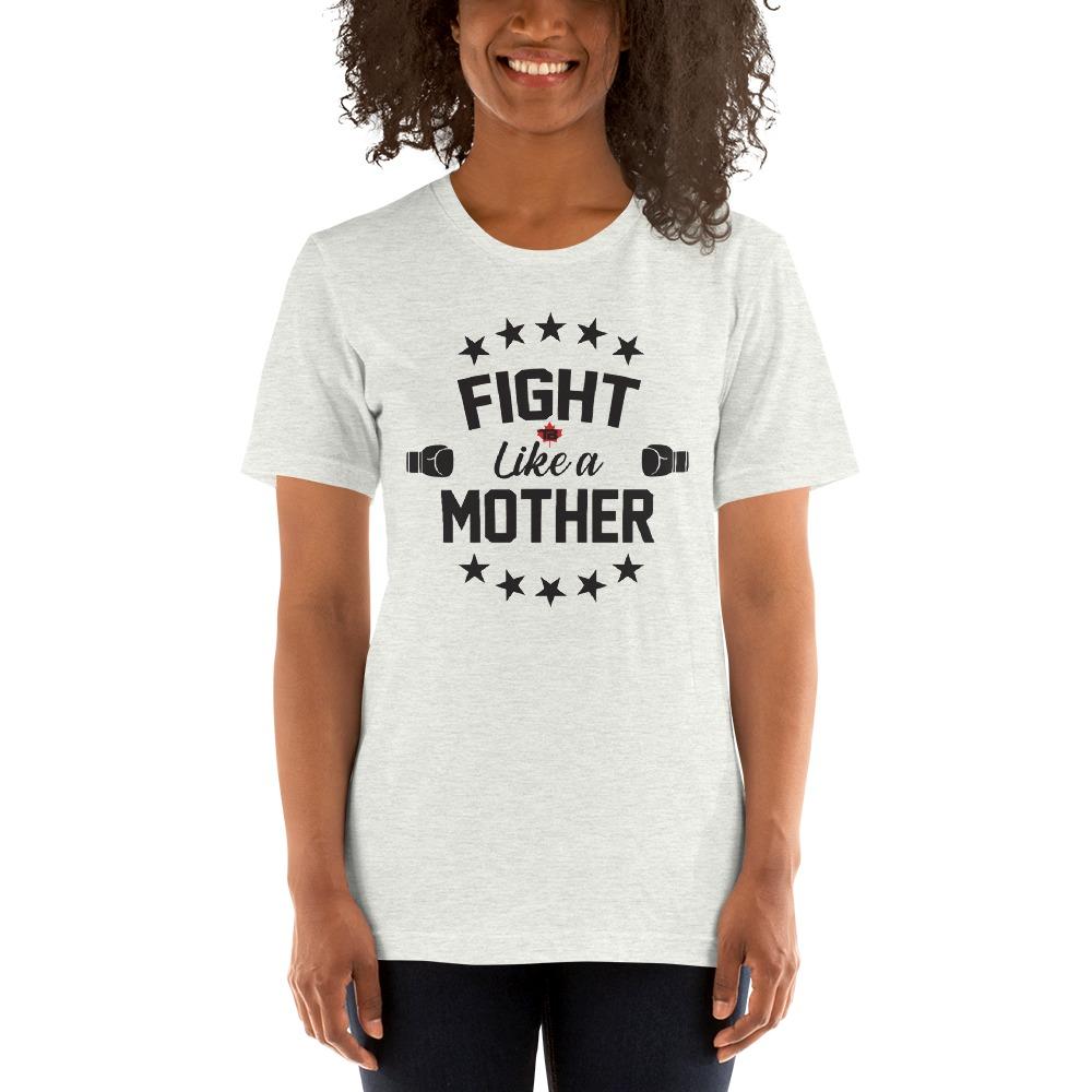 Fight Like A Mother by Mandy Bujold, Women's T-Shirt, Black Logo