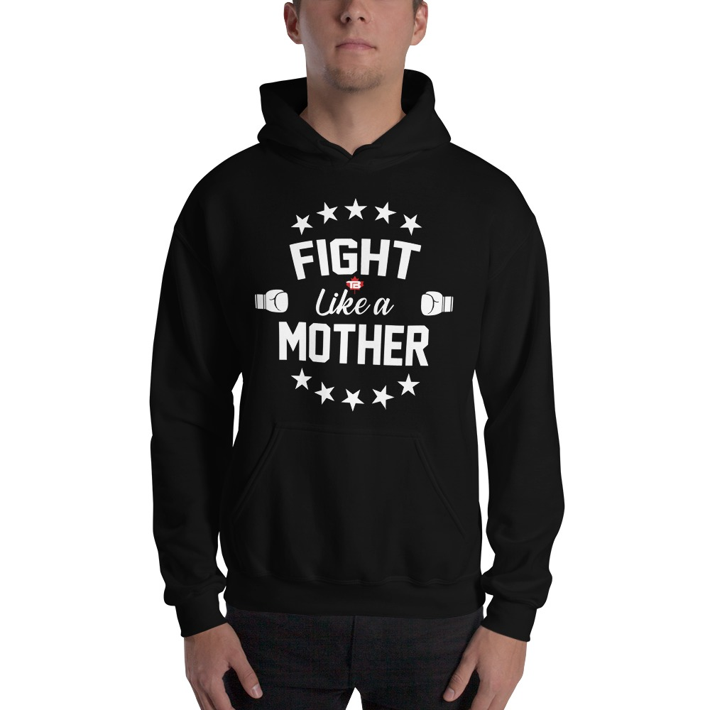 Fight Like A Mother by Mandy Bujold, Men's Hoodie, White Logo