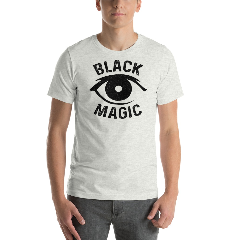 Black Magic V#1 by Antonio Washington Men's T-Shirt, White Logo