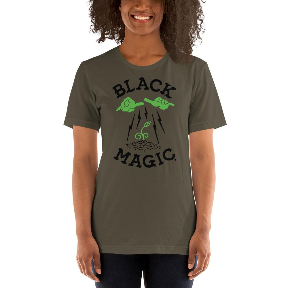 Black Magic V#1 by Antonio Washington Women's T-Shirt, Black Logo