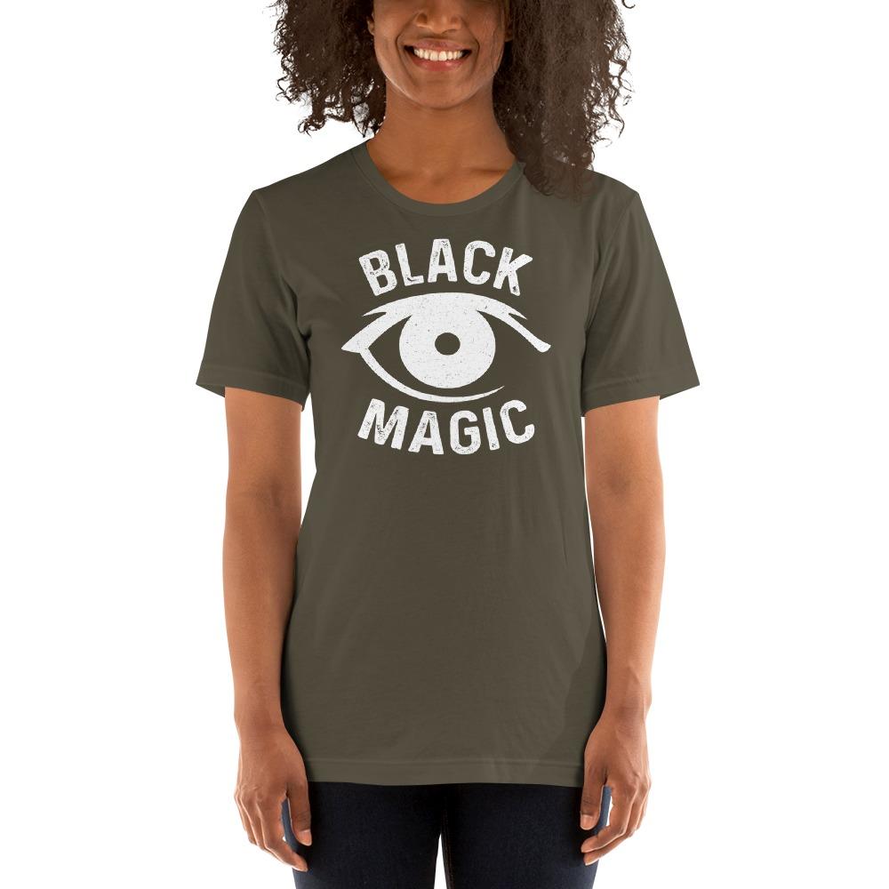 Black Magic V#2 by Antonio Washington Women's T-Shirt, White Logo