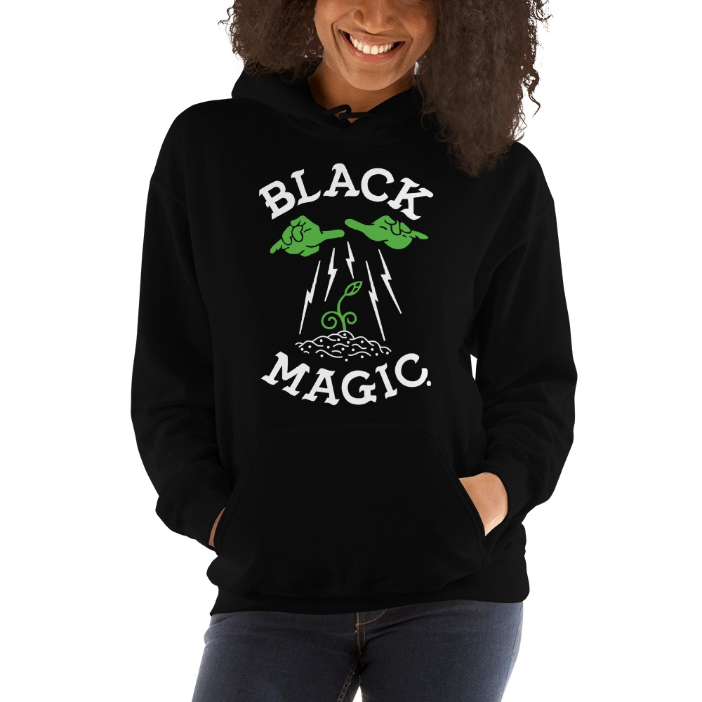 Black Magic V#1 by Antonio Washington Women's Hoodie, White Logo