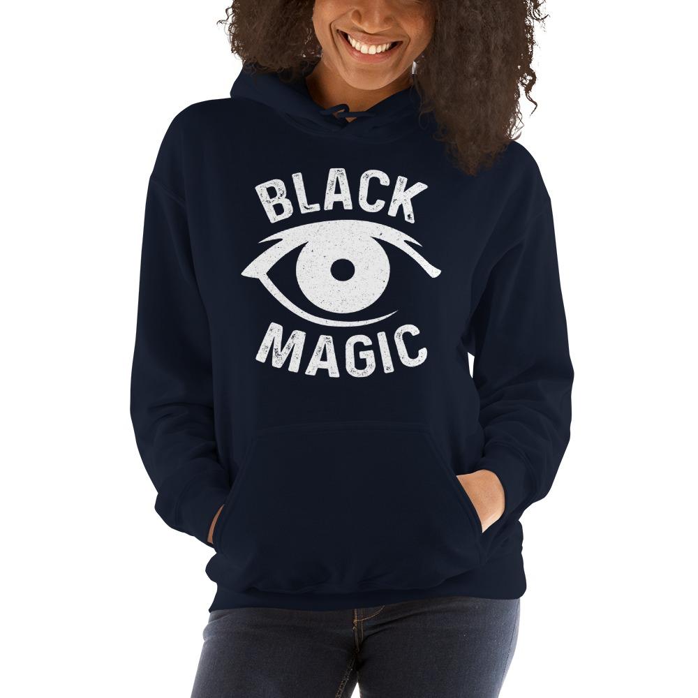 Black Magic V#2 by Antonio Washington Women's Hoodie, White Logo