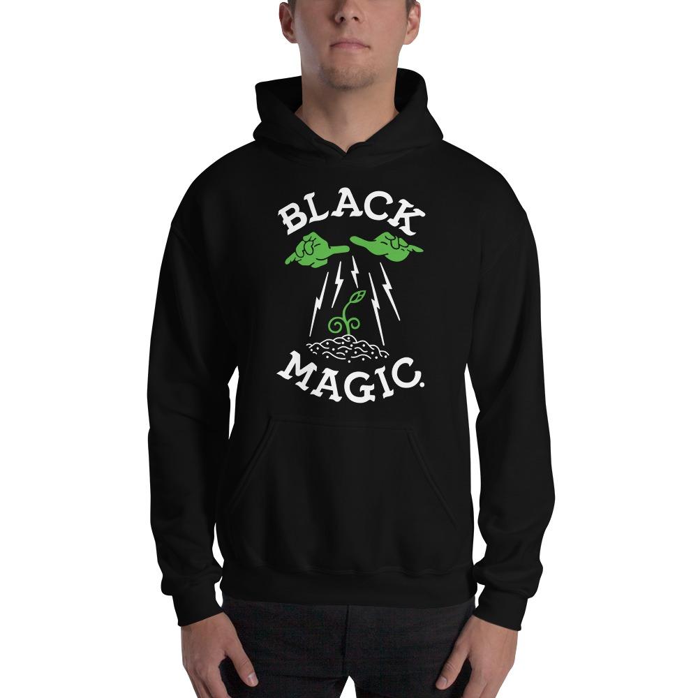 Black Magic V#1 by Antonio Washington Men's Hoodie, White Logo
