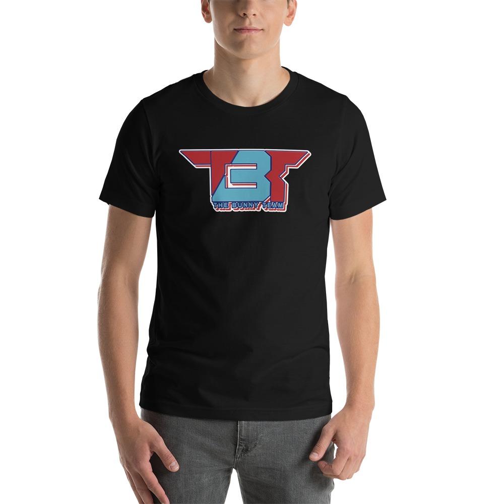 TBT by Robert Easter Jr, Men's T-Shirt, Sky/Red Logo