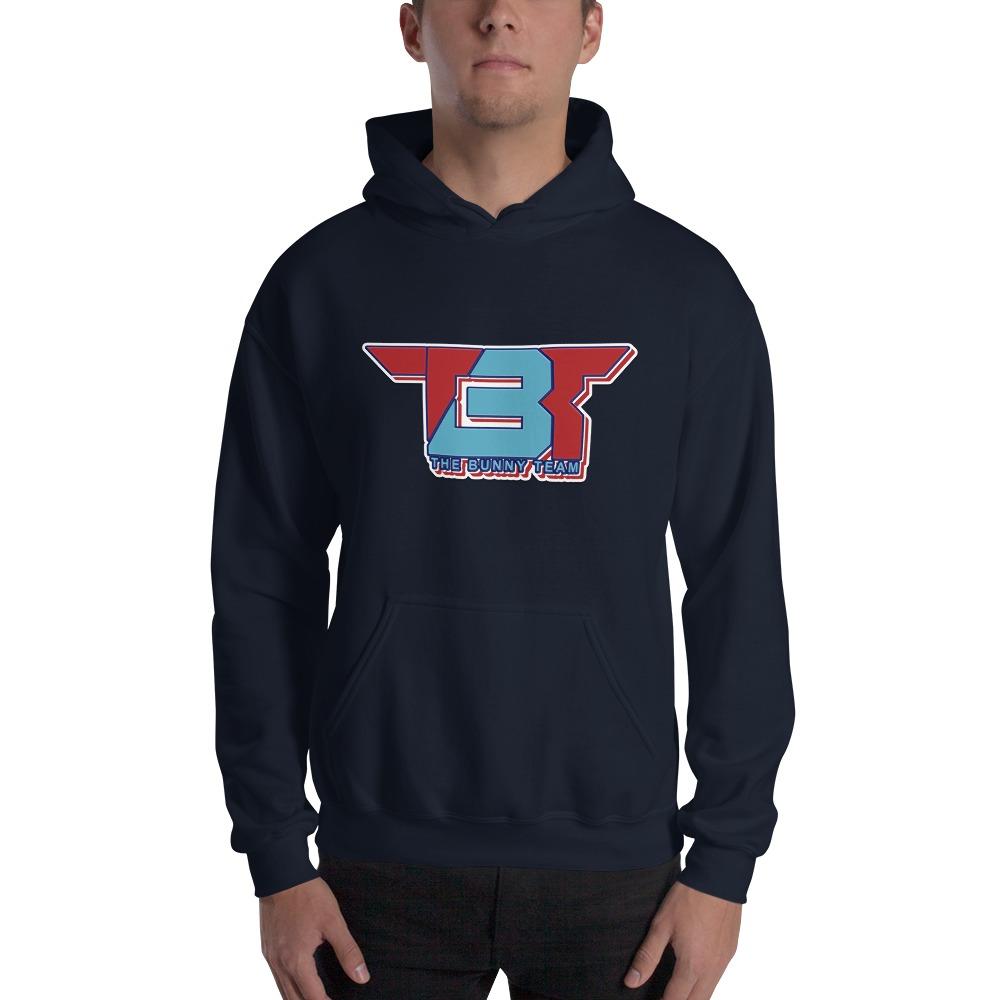 TBT by Robert Easter Jr, Men's Hoodie, Sky/Red Logo
