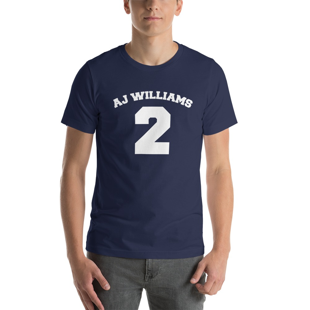 AJ Williams Men's T-shirt , White Logo