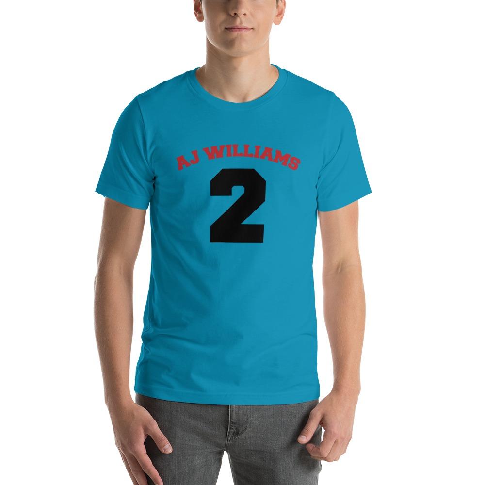 AJ Williams Men's T-shirt , Red and Black Logo