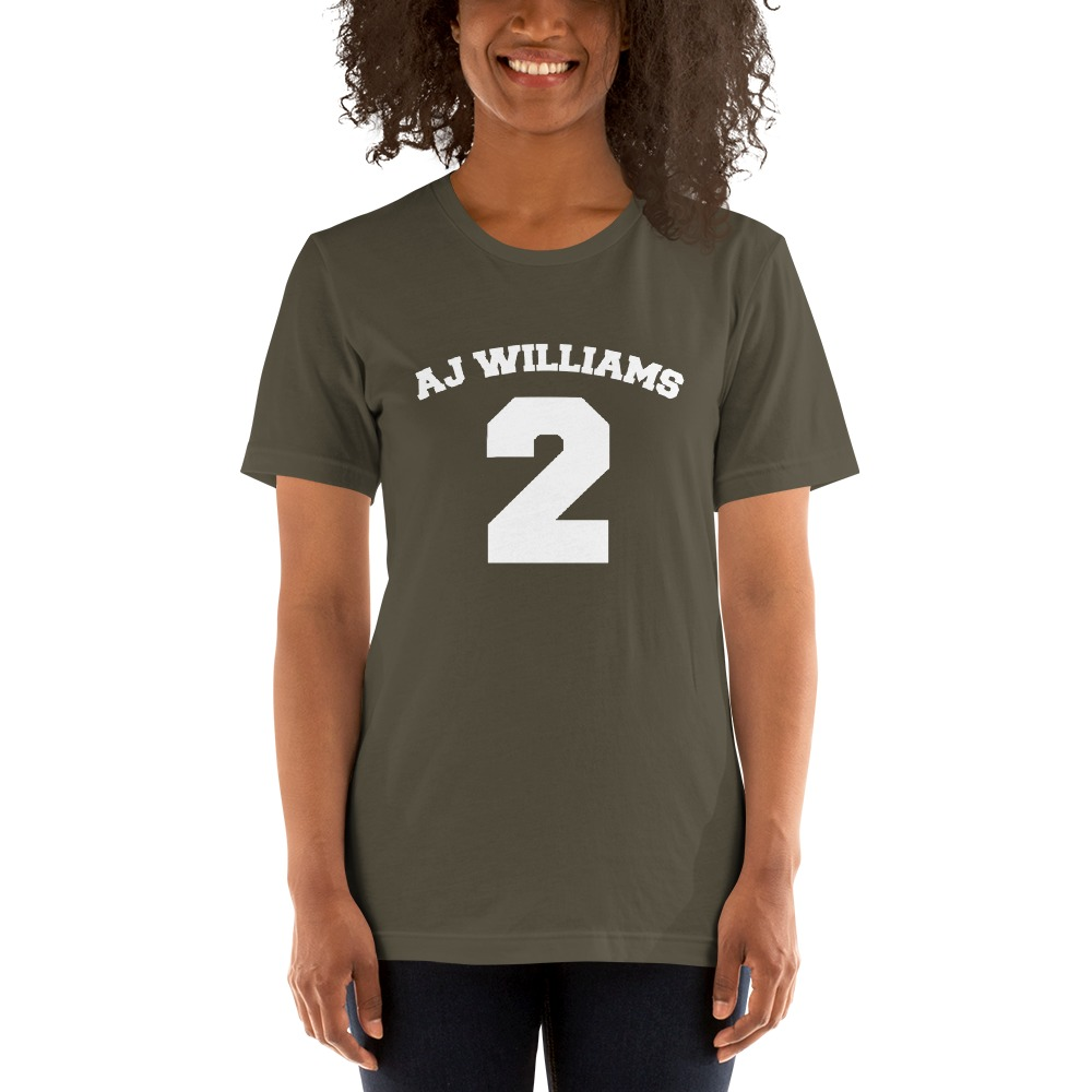 AJ Williams Women's T-shirt , White Logo