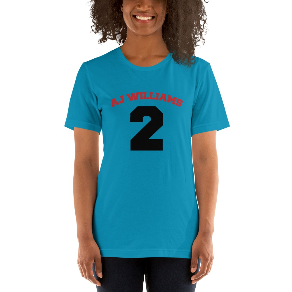 AJ Williams Women's T-shirt , Red and Black Logo