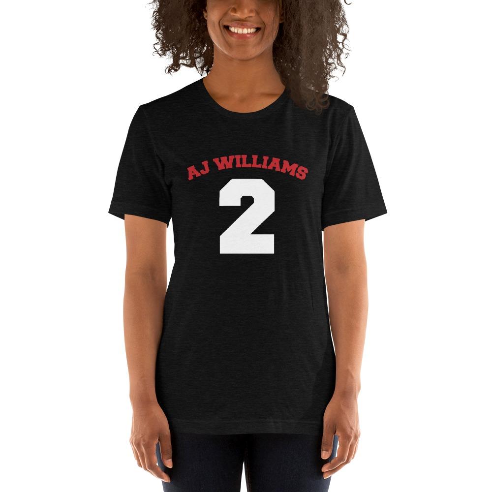 AJ Williams Women's T-shirt , Red and White Logo