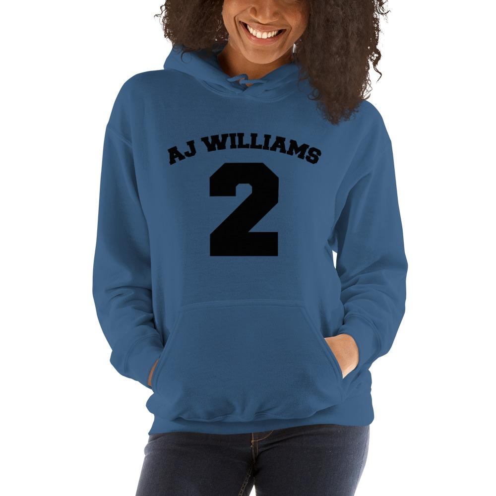 AJ Williams Women's Hoodie , Black Logo
