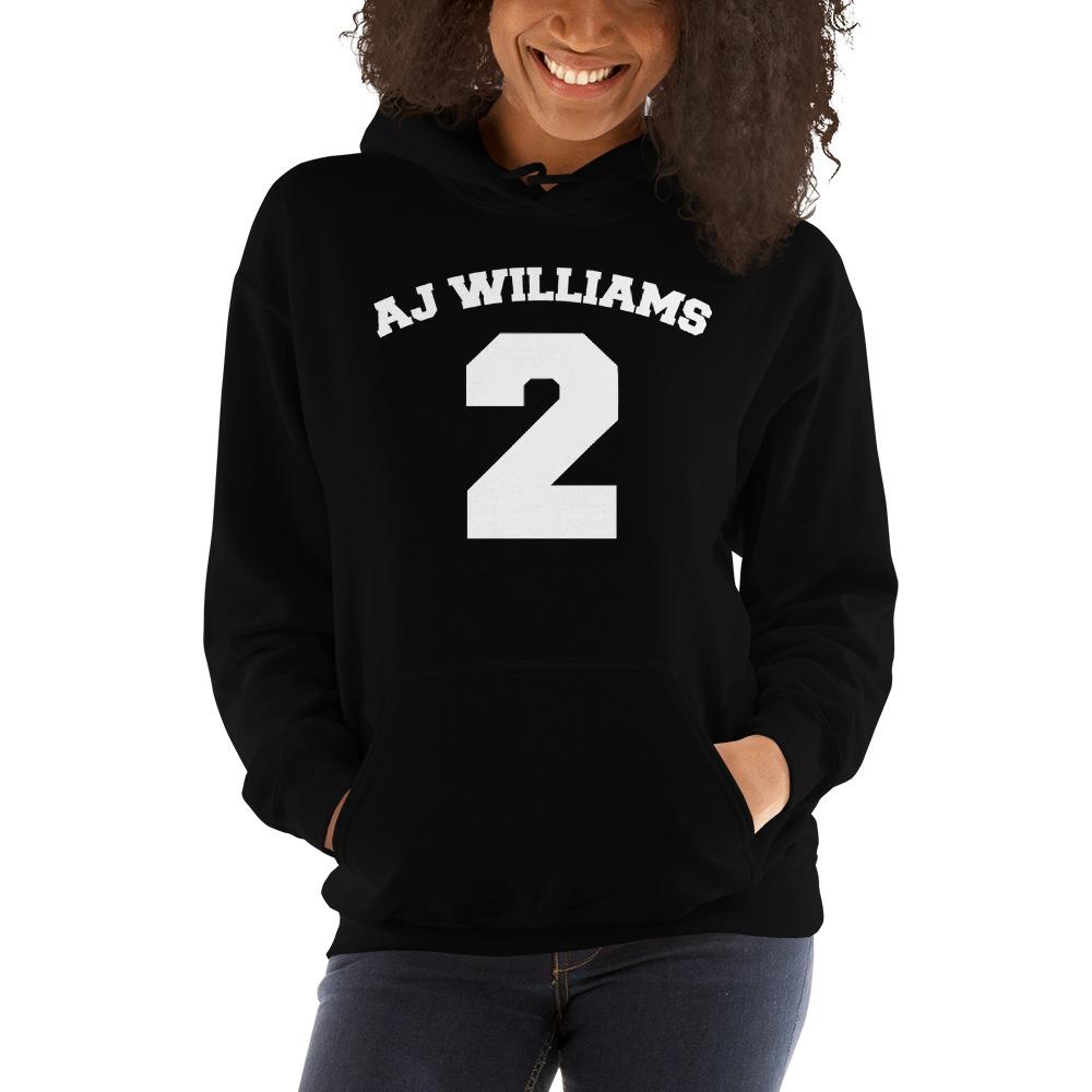 AJ Williams Women's Hoodie , White Logo