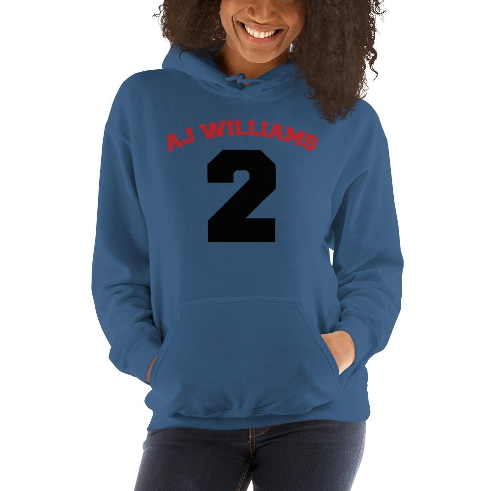 AJ Williams Women's Hoodie , Red and Black Logo