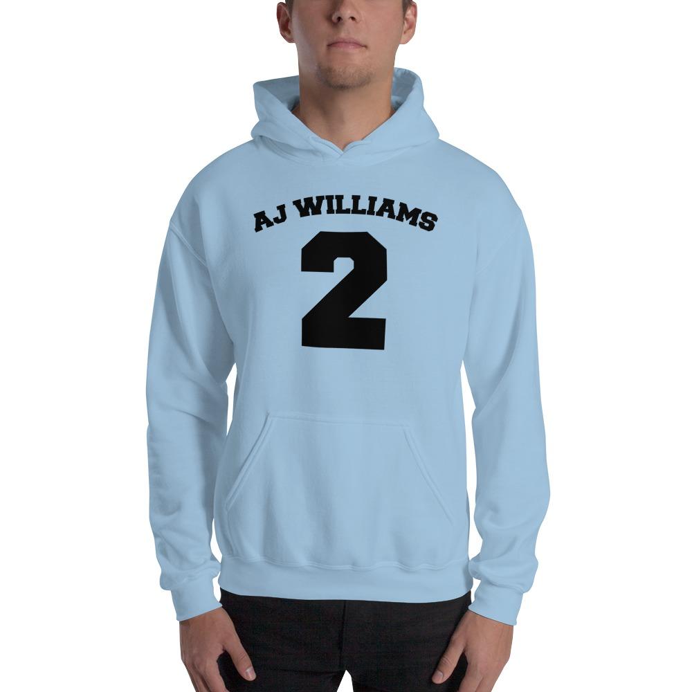 AJ Williams Men's Hoodie , Black Logo