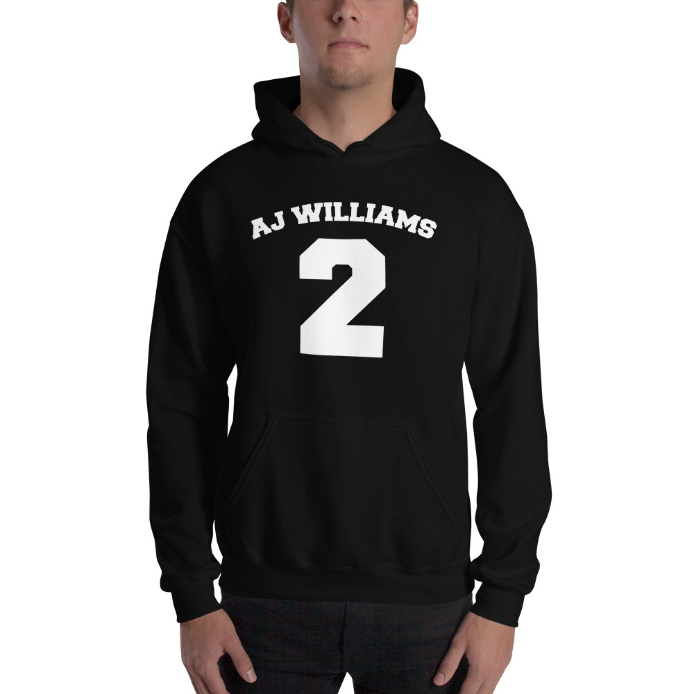 AJ Williams Men's Hoodie , White Logo