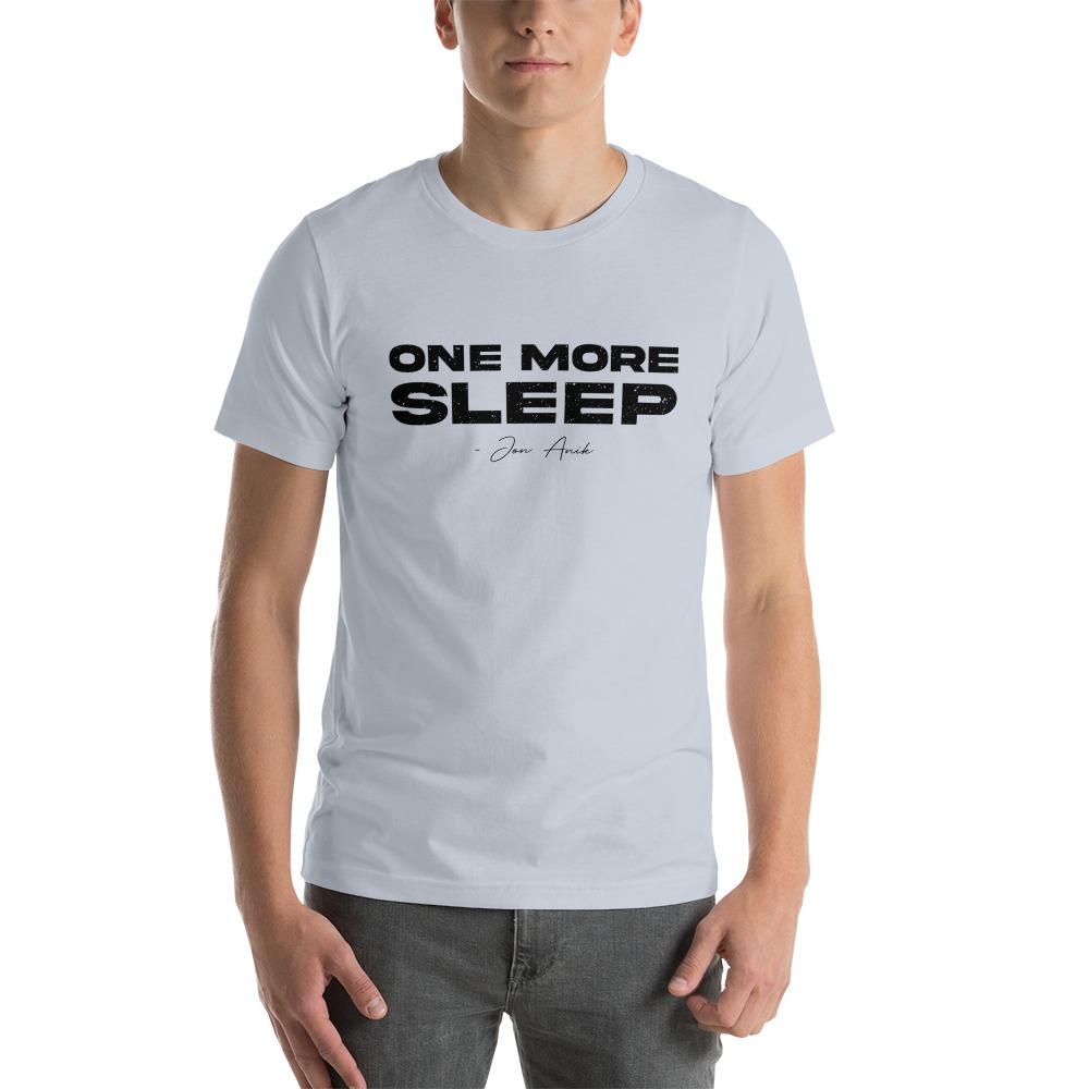 One More Sleep by Jon Anik, Men's T-Shirt, Black Logo