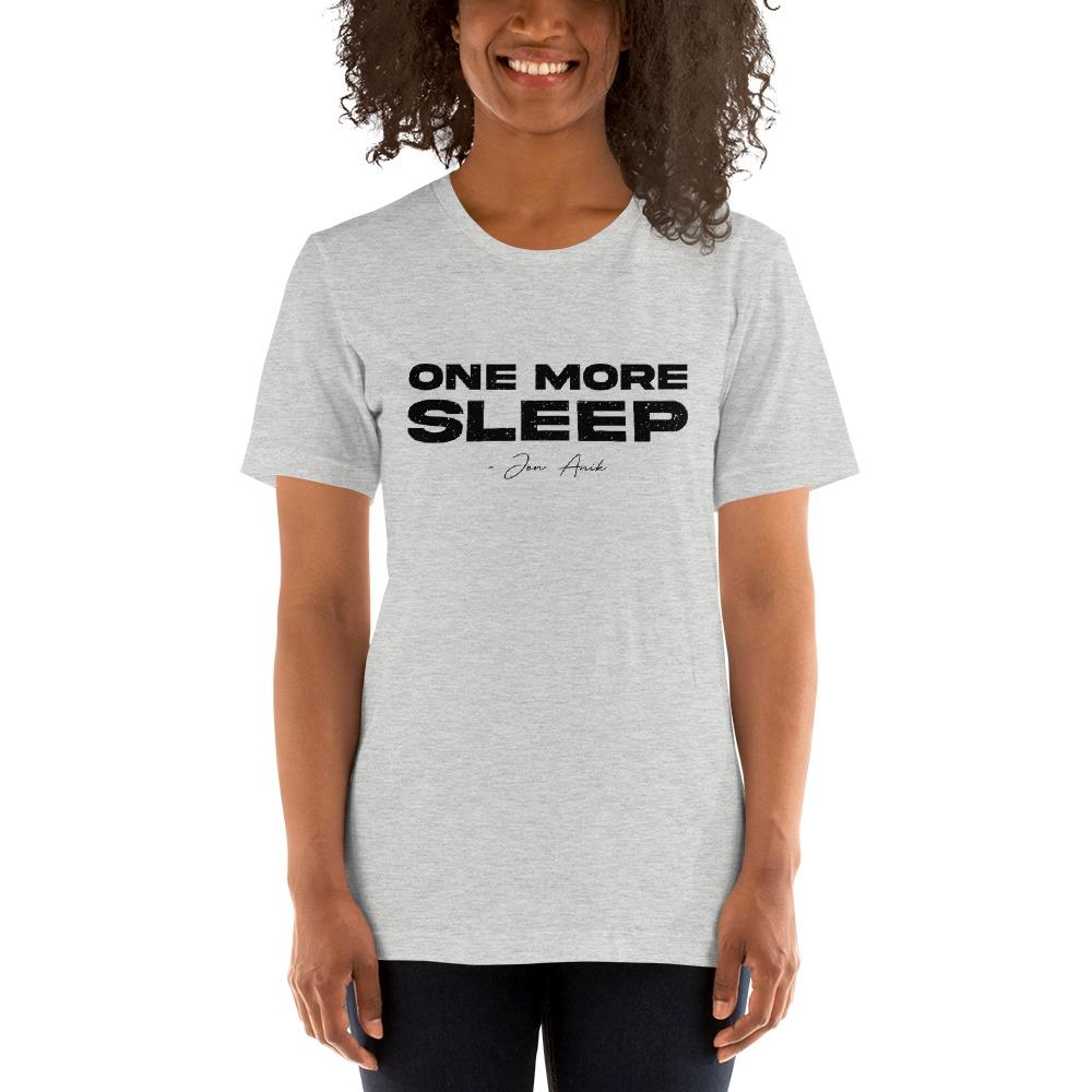 One More Sleep by Jon Anik, Women's T-Shirt, Black Logo