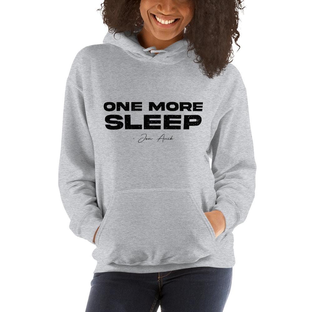 One More Sleep by Jon Anik, Women's Hoodie, Black Logo
