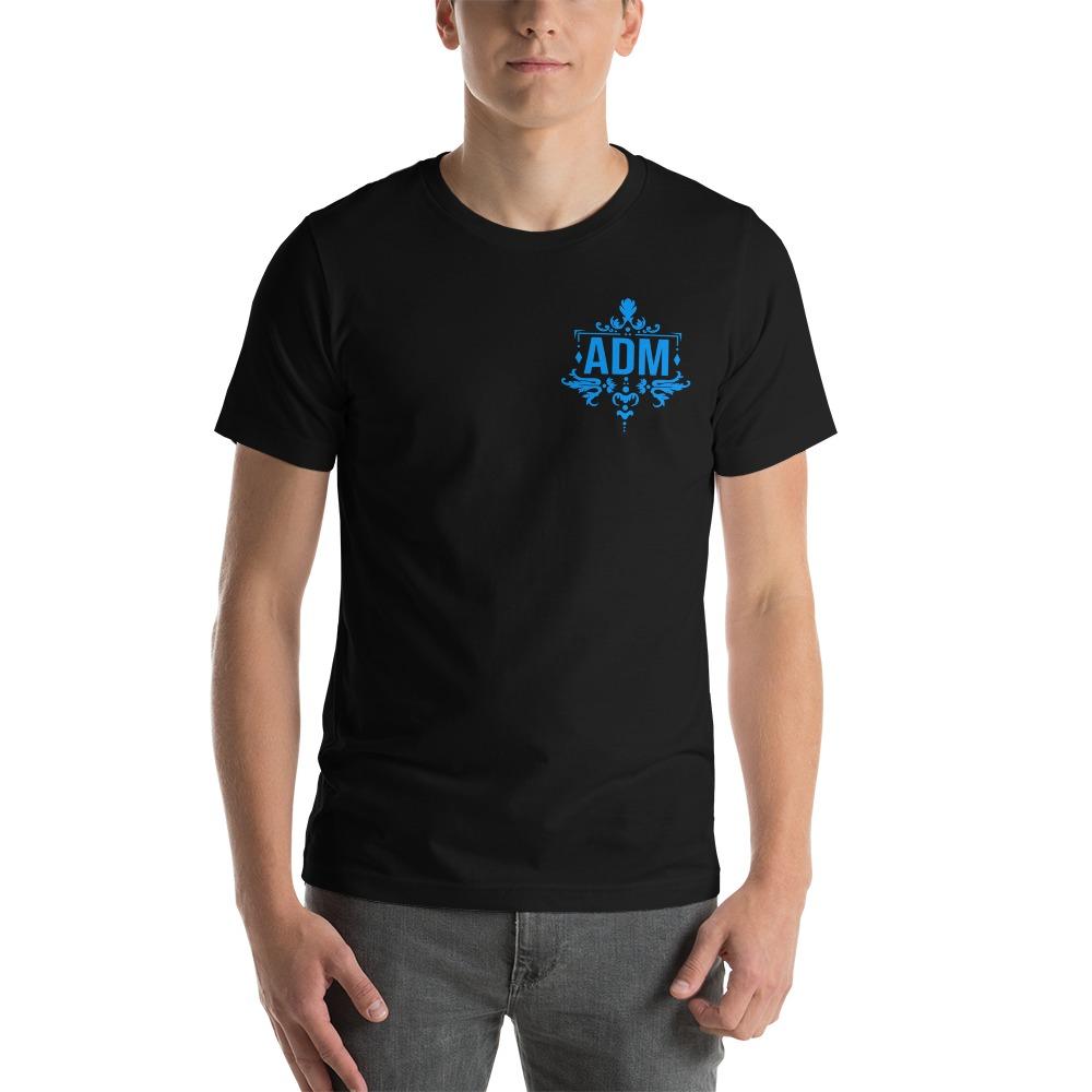 ADM By Alec McAlister, Men's T-Shirt, Blue Logo Mini