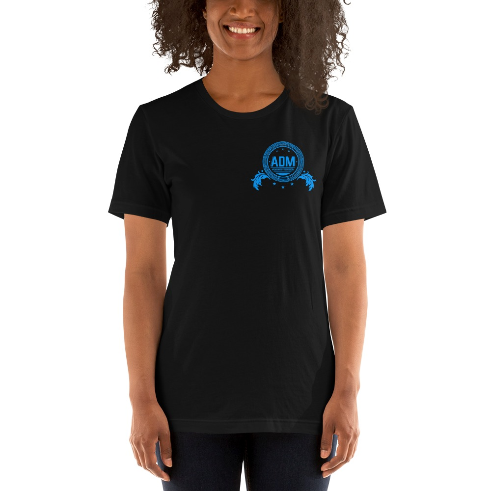 ADM By Alec McAlister, Women's T-Shirt, Blue Circle Logo Mini