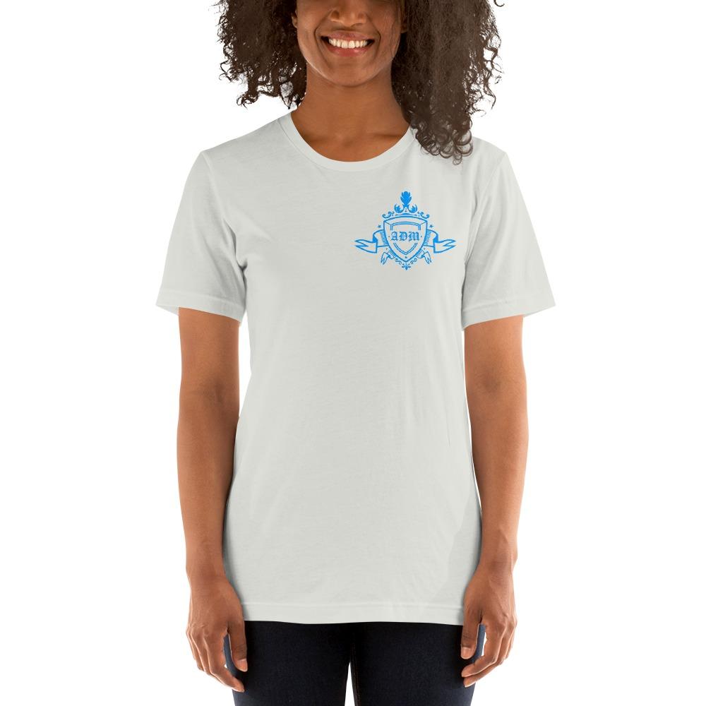 ADM By Alec McAlister, Women's T-Shirt, Blue Ribbon Logo Mini