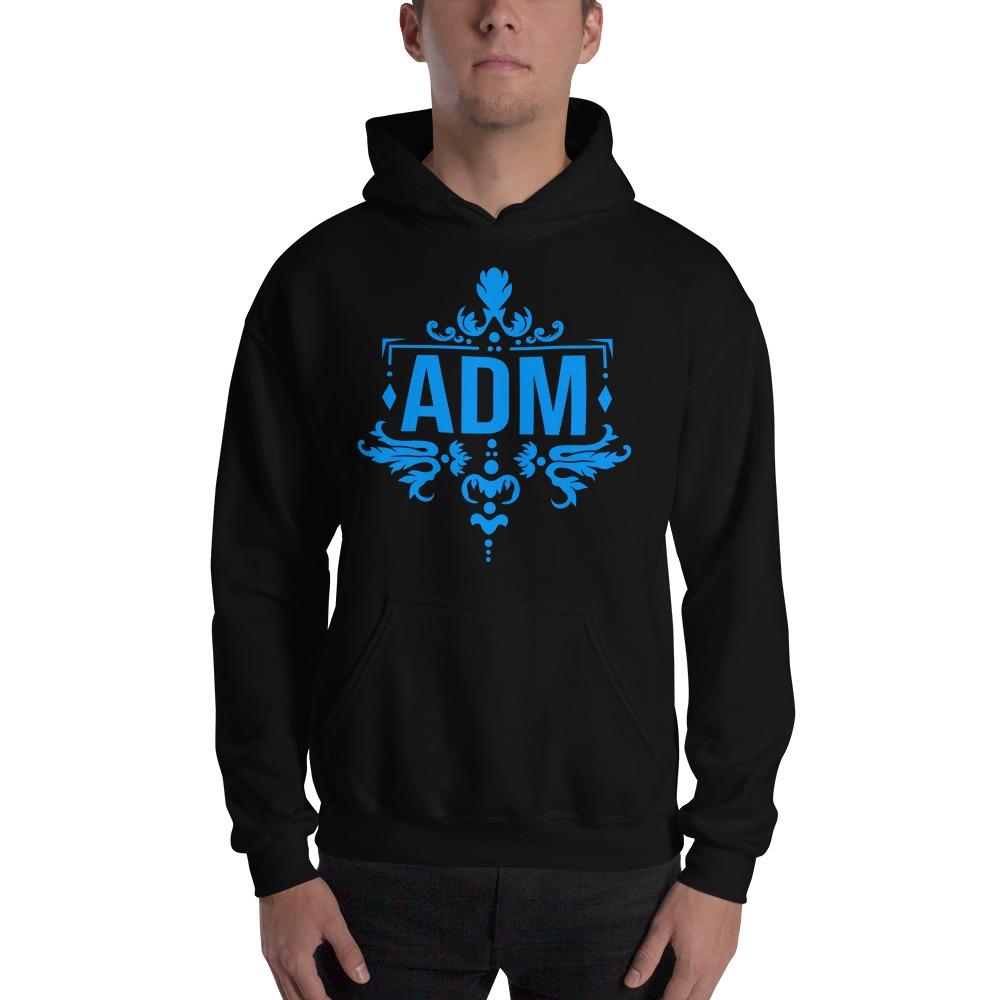 ADM By Alec McAlister, Men's Hoodie, Blue Logo