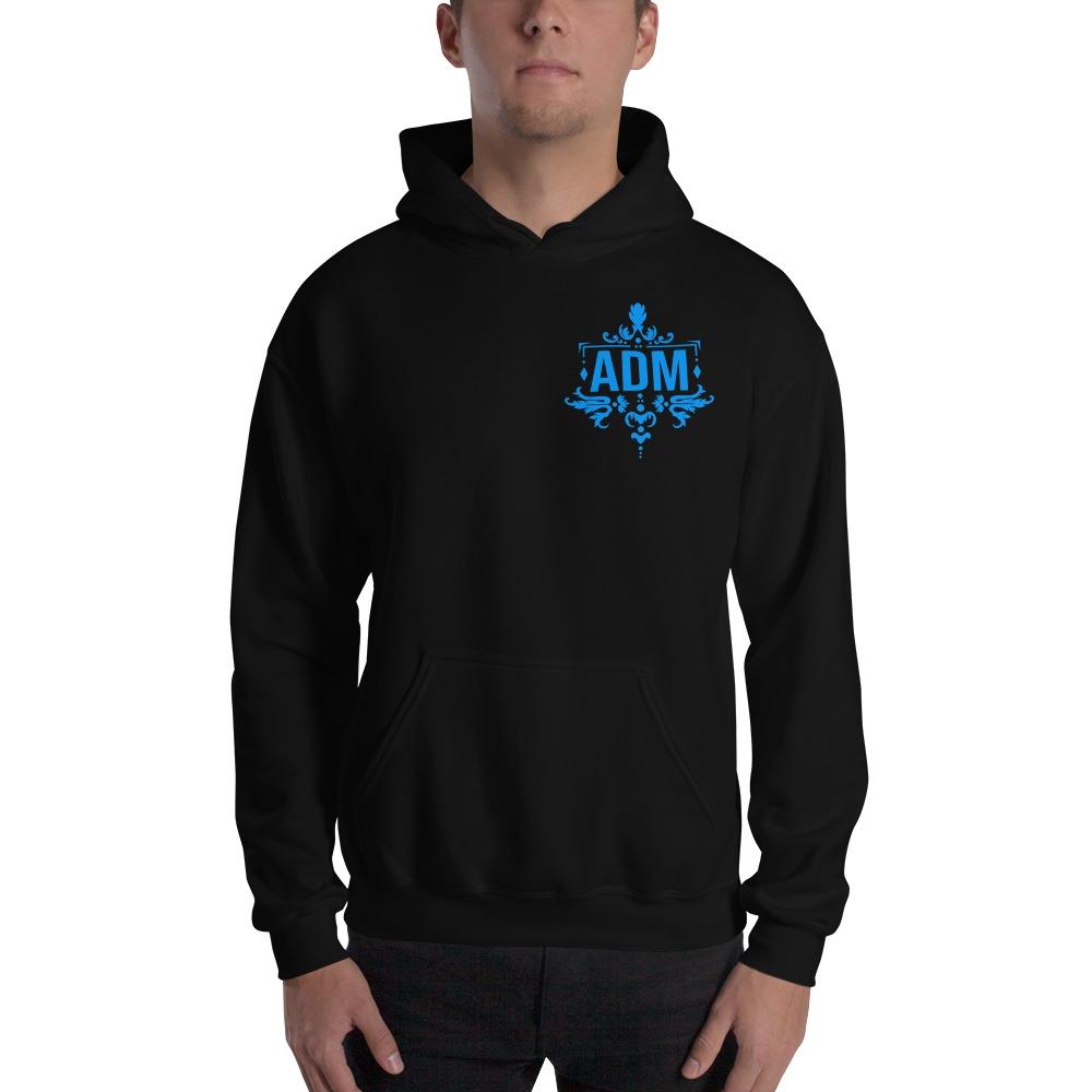 ADM By Alec McAlister, Men's Hoodie, Blue Logo Mini