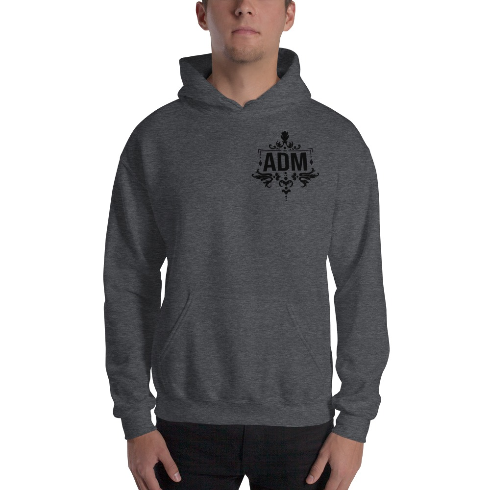 ADM By Alec McAlister, Men's Hoodie, Black Logo Mini