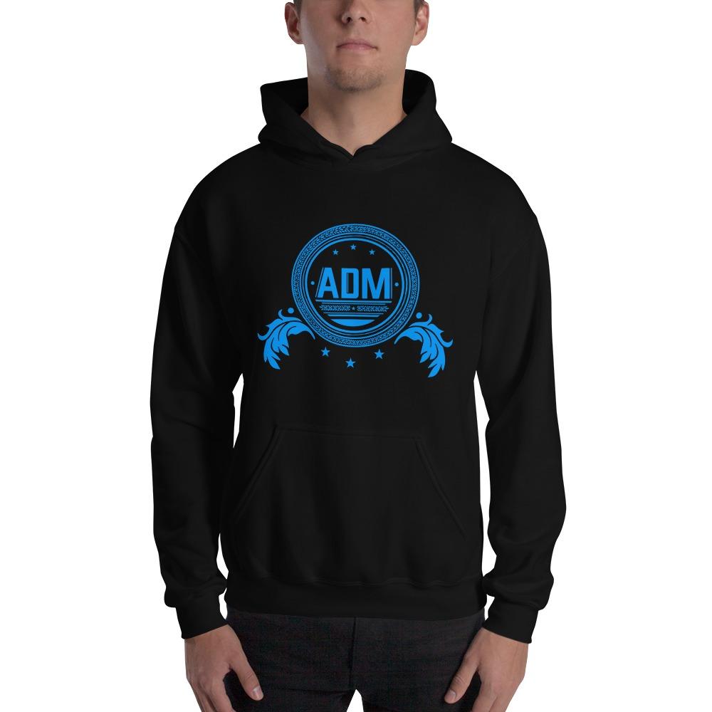 ADM By Alec McAlister, Men's Hoodie, Blue Circle Logo