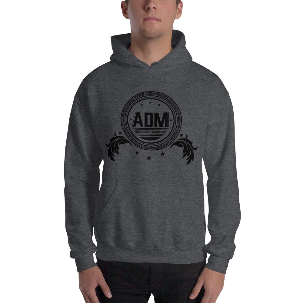 ADM By Alec McAlister, Men's Hoodie, Black Circle Logo