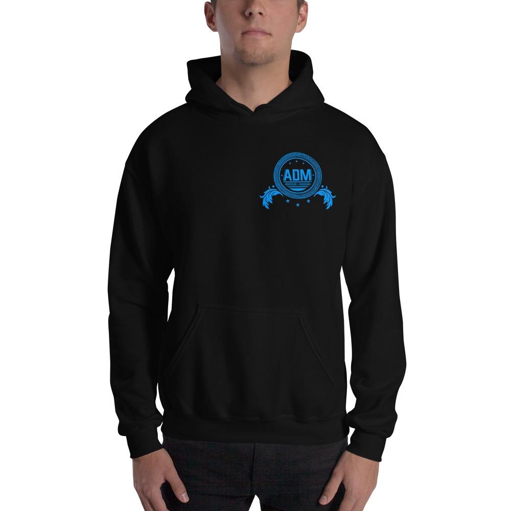 ADM By Alec McAlister, Men's Hoodie, Blue Circle Logo Mini
