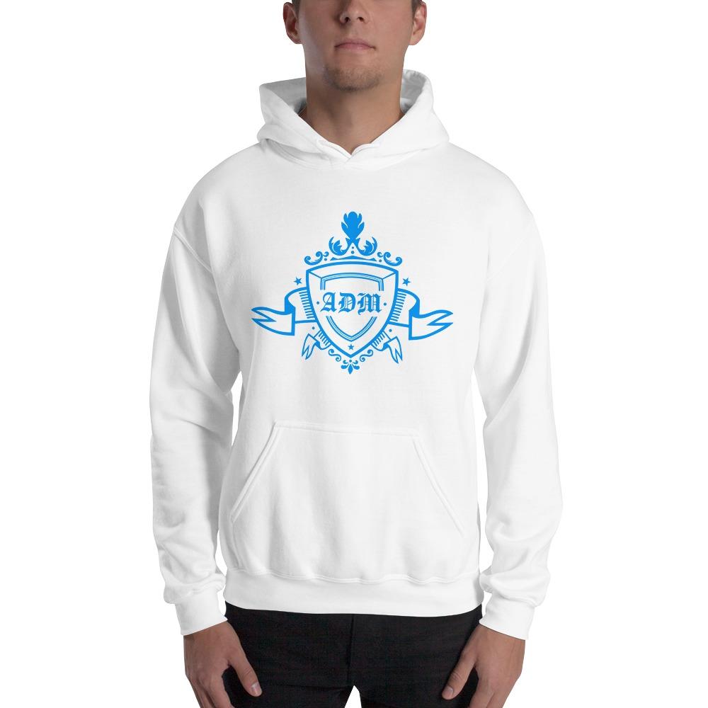 ADM By Alec McAlister, Men's Hoodie, Blue Ribbon Logo