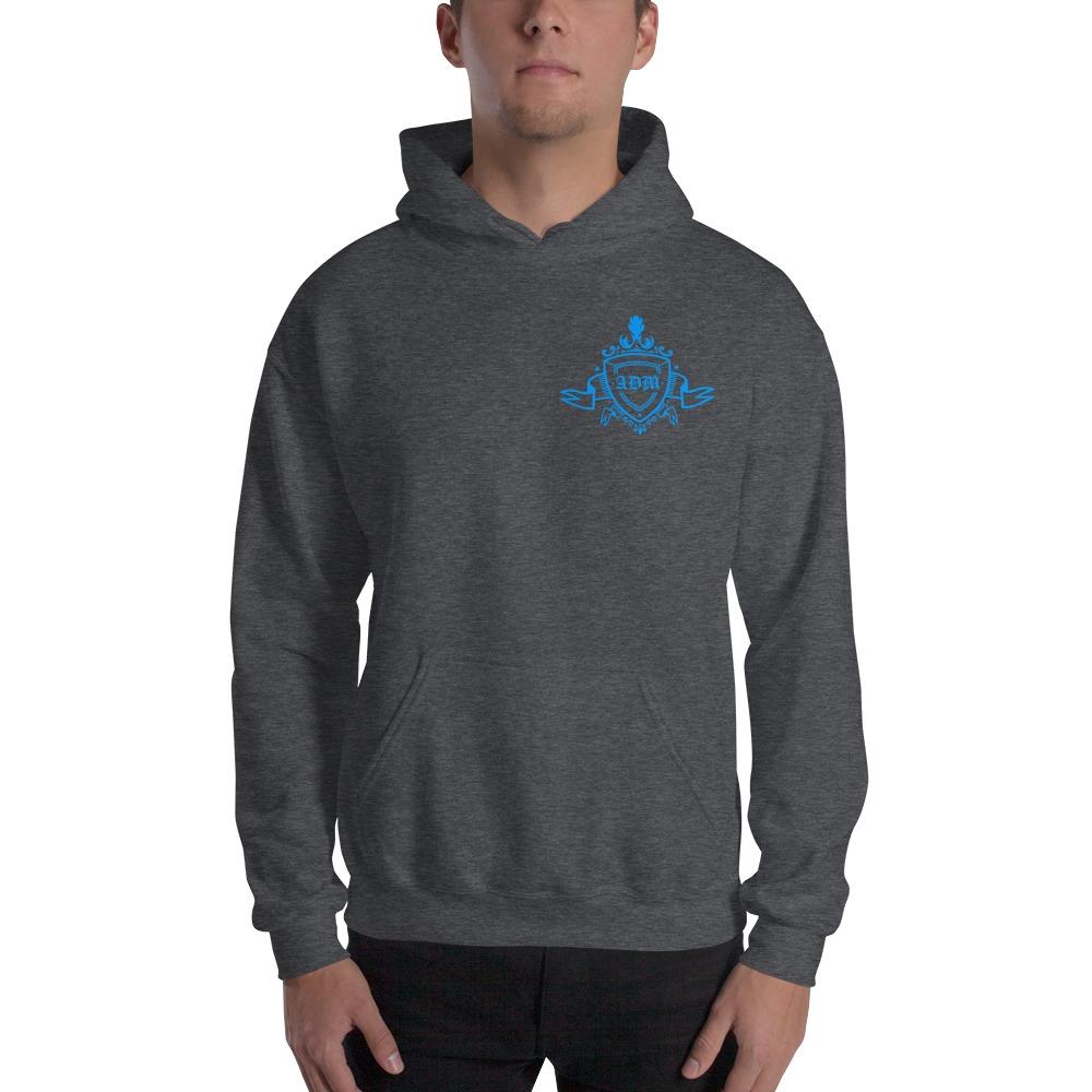 ADM By Alec McAlister, Men's Hoodie, Blue Ribbon Logo Mini