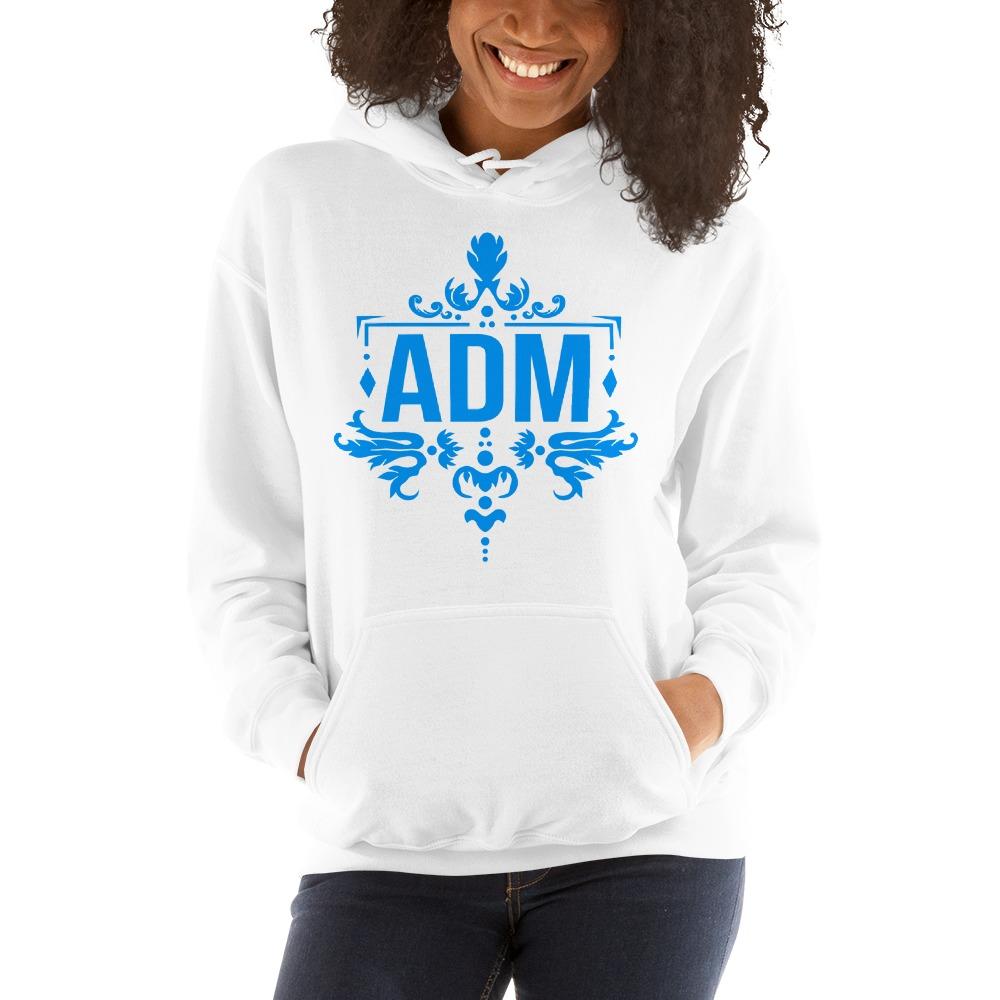ADM By Alec McAlister, Women's Hoodie, Blue Logo