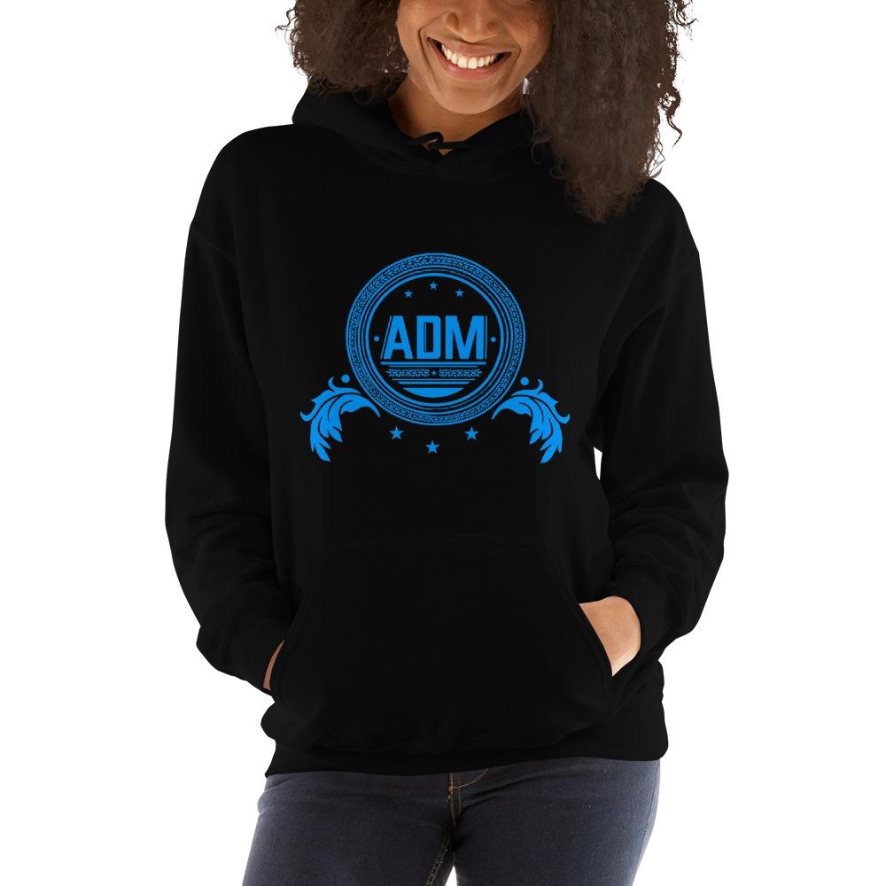 ADM By Alec McAlister, Women's Hoodie, Blue Circle Logo