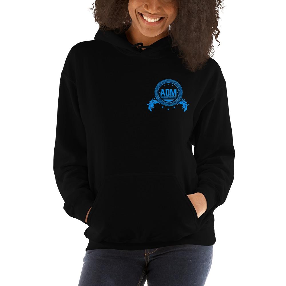 ADM By Alec McAlister, Women's Hoodie, Blue Circle Logo Mini