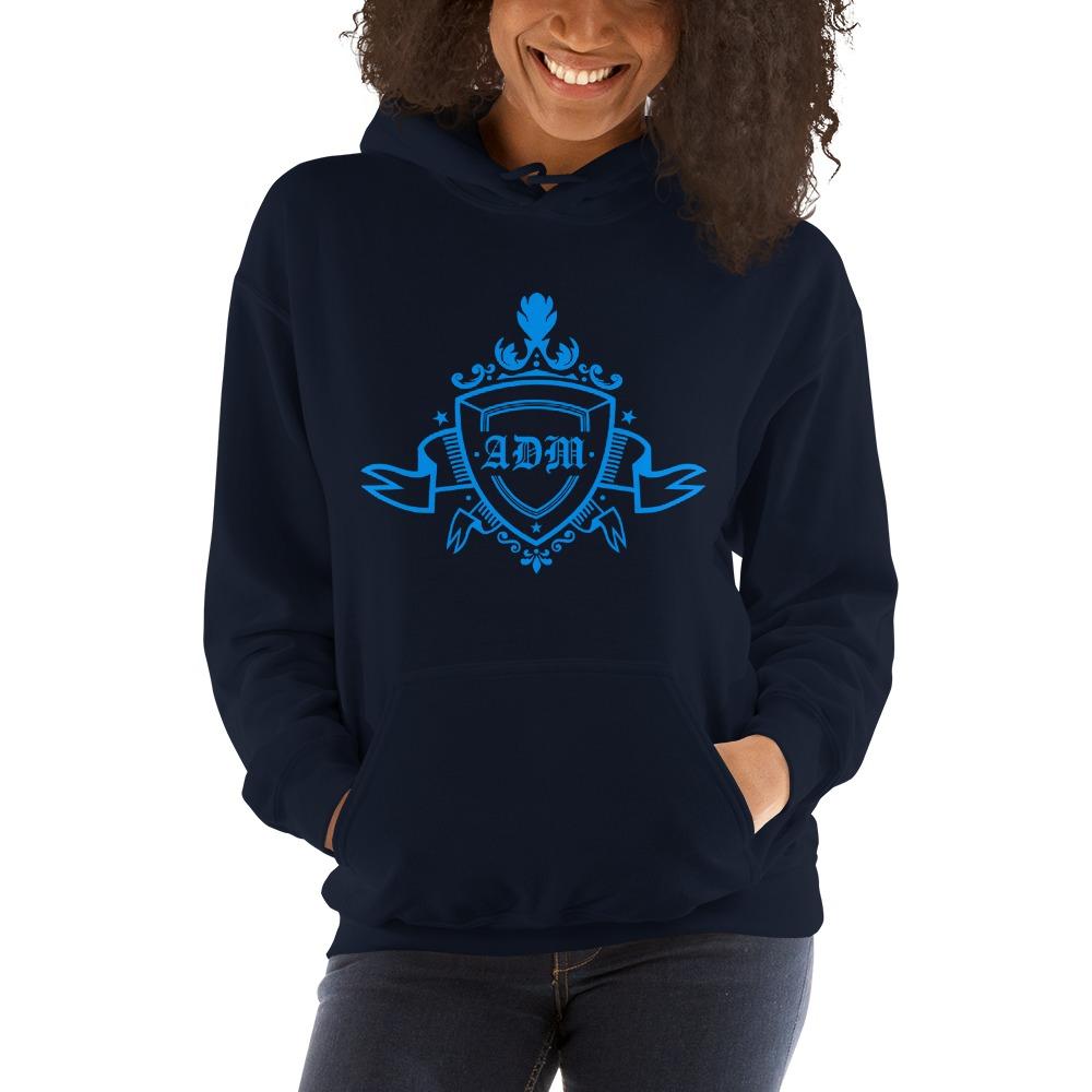 ADM By Alec McAlister, Women's Hoodie, Blue Ribbon Logo