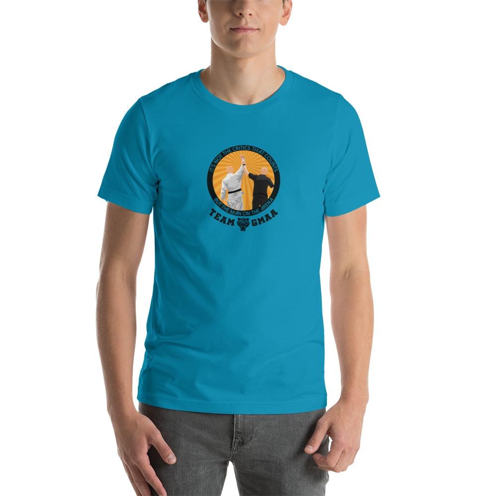 Goulburn Martial Arts Academy Men's T-Shirt, Black and Gold Logo