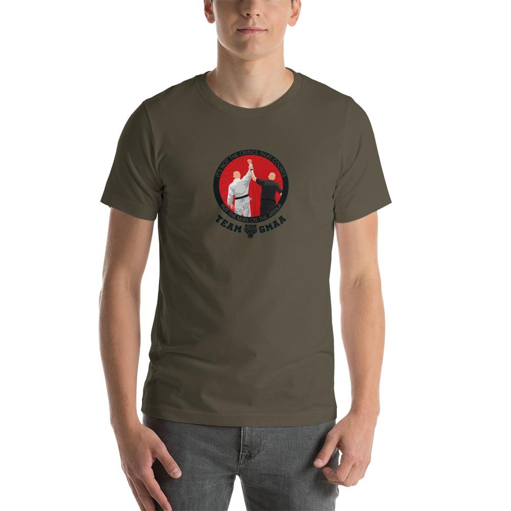 Goulburn Martial Arts Academy Men's T-Shirt, Black and Red Logo