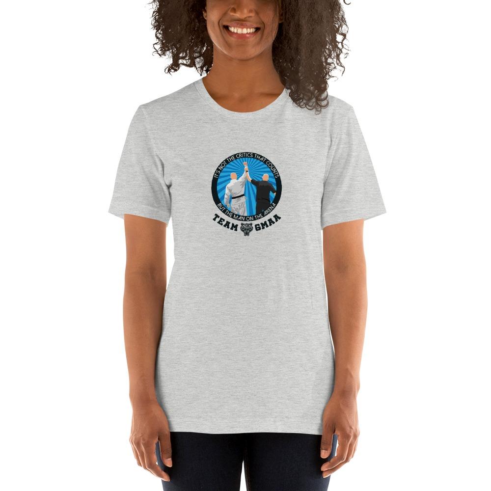 Goulburn Martial Arts Academy Women's T-Shirt, Black and Blue Logo