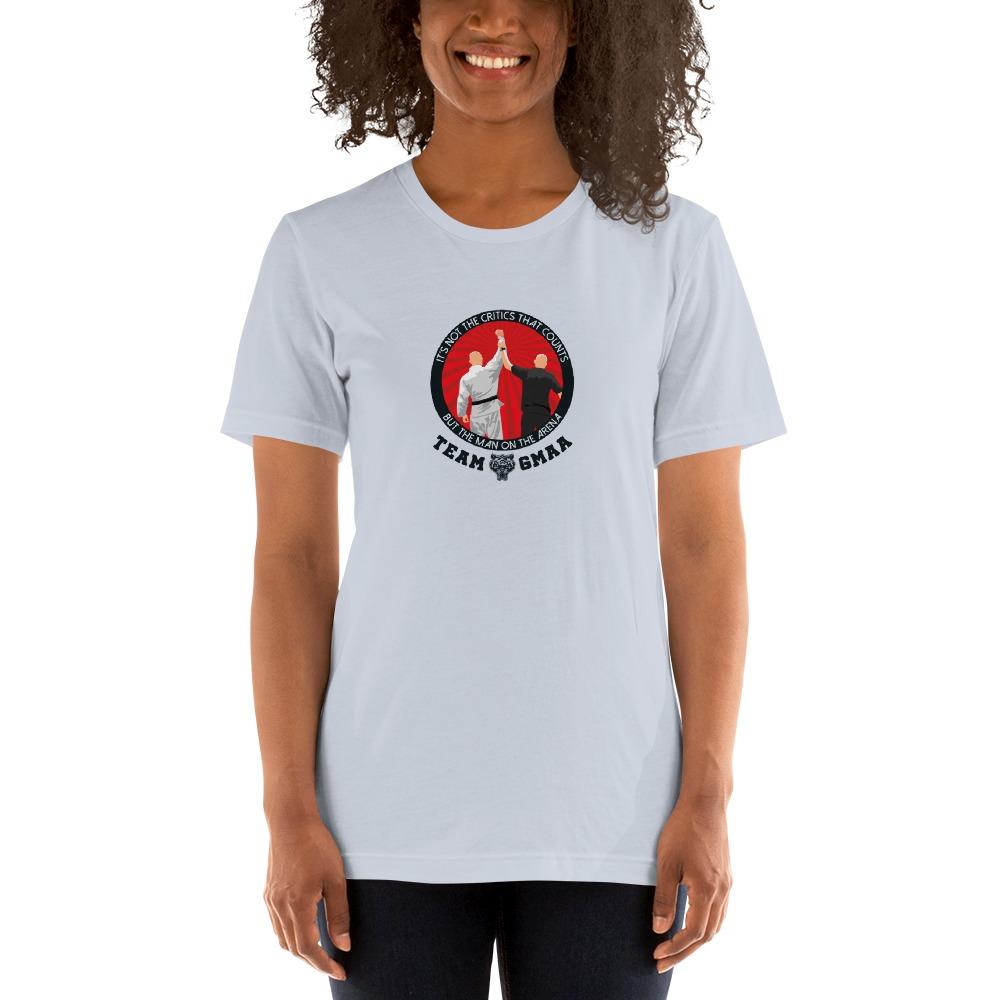Goulburn Martial Arts Academy Women's T-Shirt, Black and Red Logo