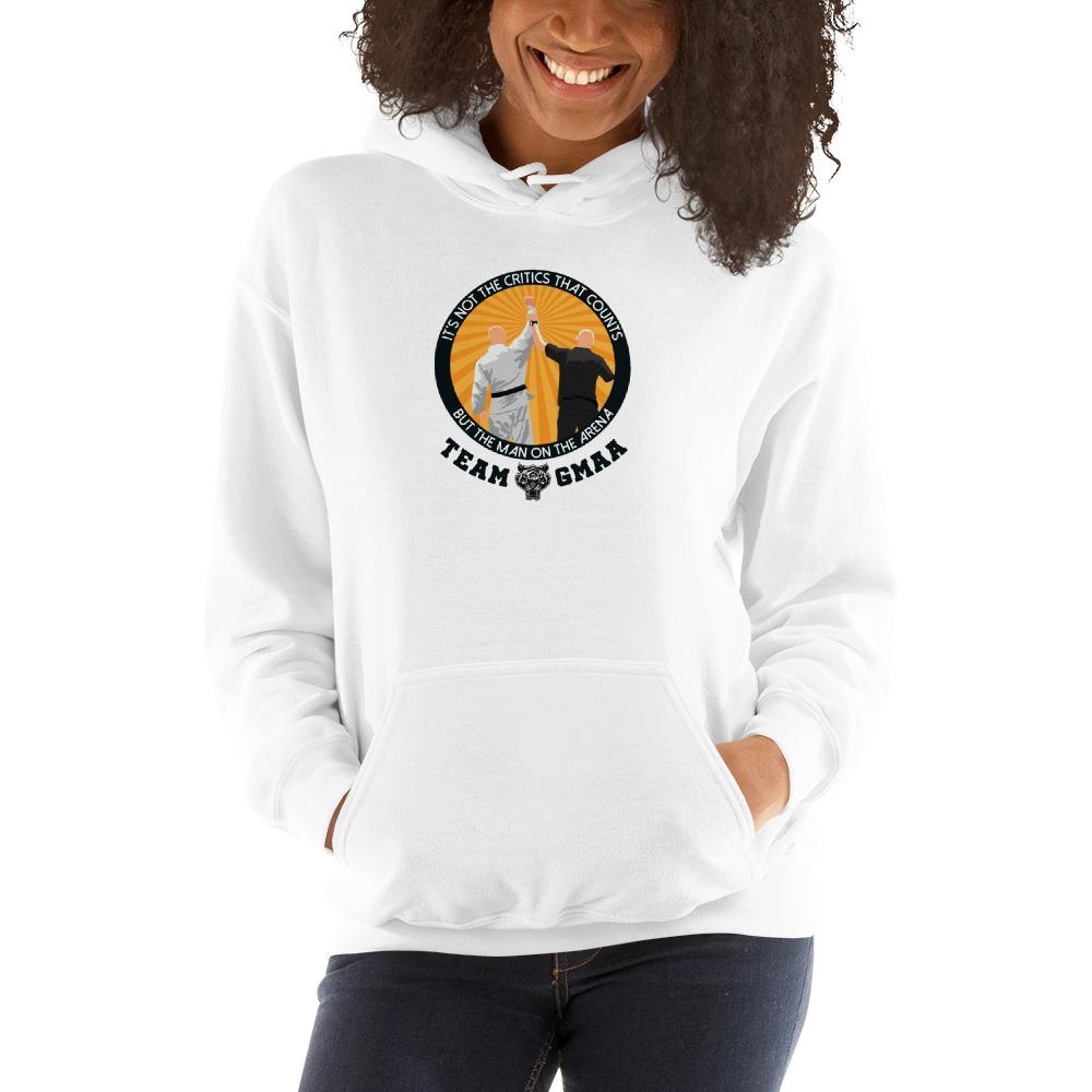 Goulburn Martial Arts Academy Women's Hoodie, Black and Gold Logo