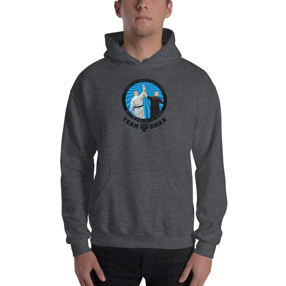 Goulburn Martial Arts Academy Men's Hoodie, Black and  Blue Logo