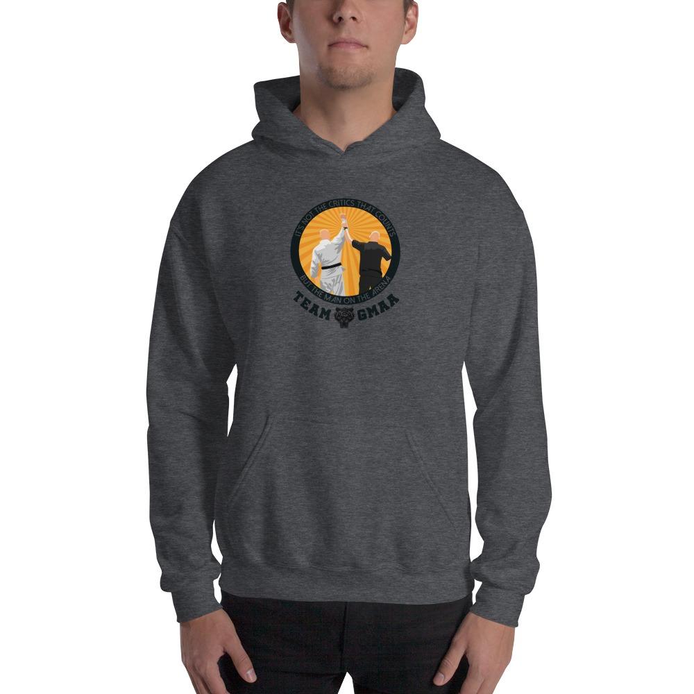 Goulburn Martial Arts Academy Men's Hoodie, Black and Gold Logo
