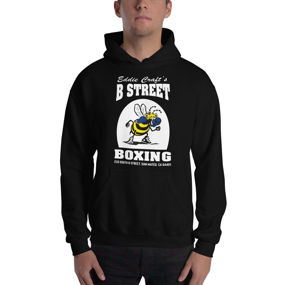 B Street Boxing by Eddie Croft Men's Hoodie