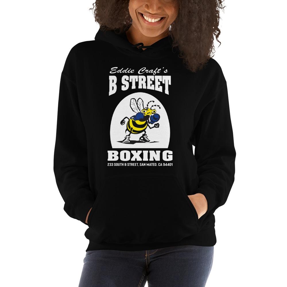 B Street Boxing by Eddie Croft Women's Hoodie