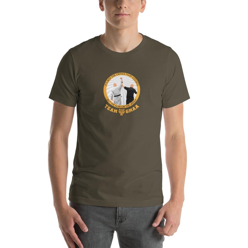 Goulburn Martial Arts Academy Men's T-Shirt, Gold and White Logo