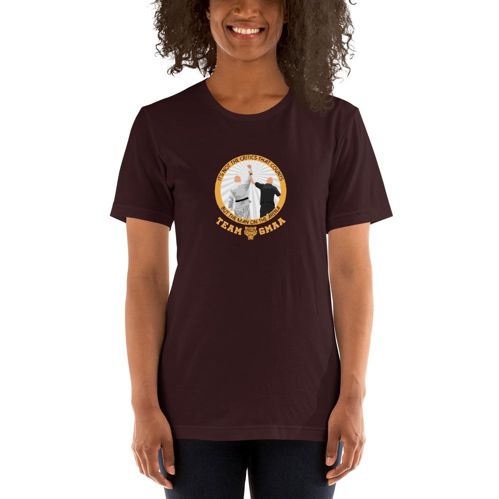 Goulburn Martial Arts Academy Women's T-Shirt, Gold and White Logo