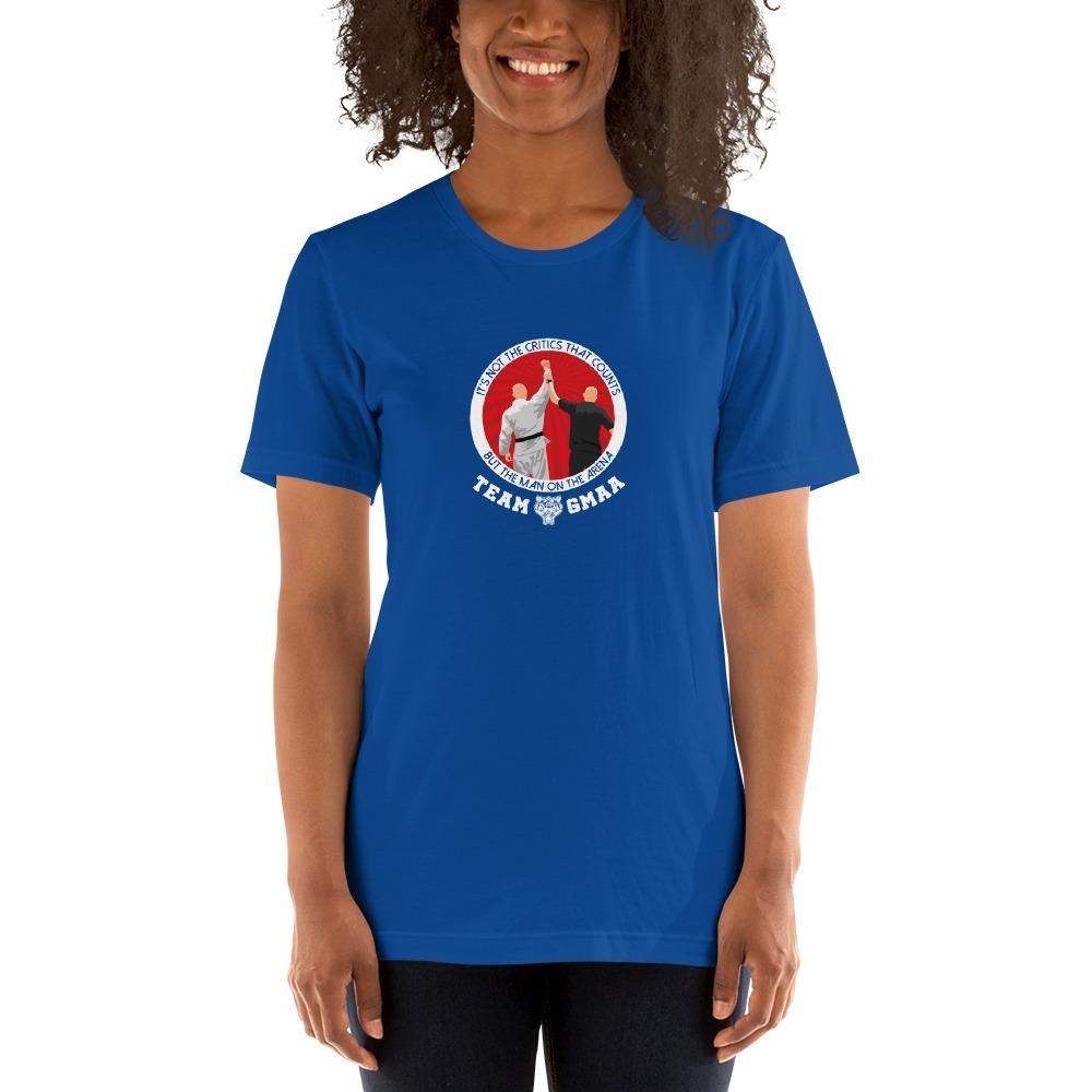 Goulburn Martial Arts Academy Women's T-Shirt, White and Red Logo